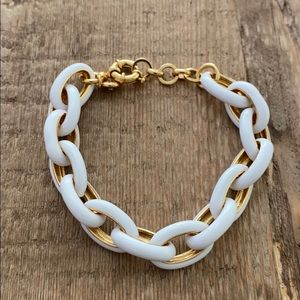 J Crew white and gold bracelet Never been worn!